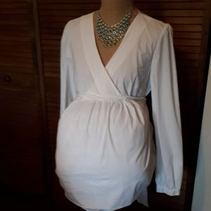 Old Navy Maternity White Tie Back Blouse